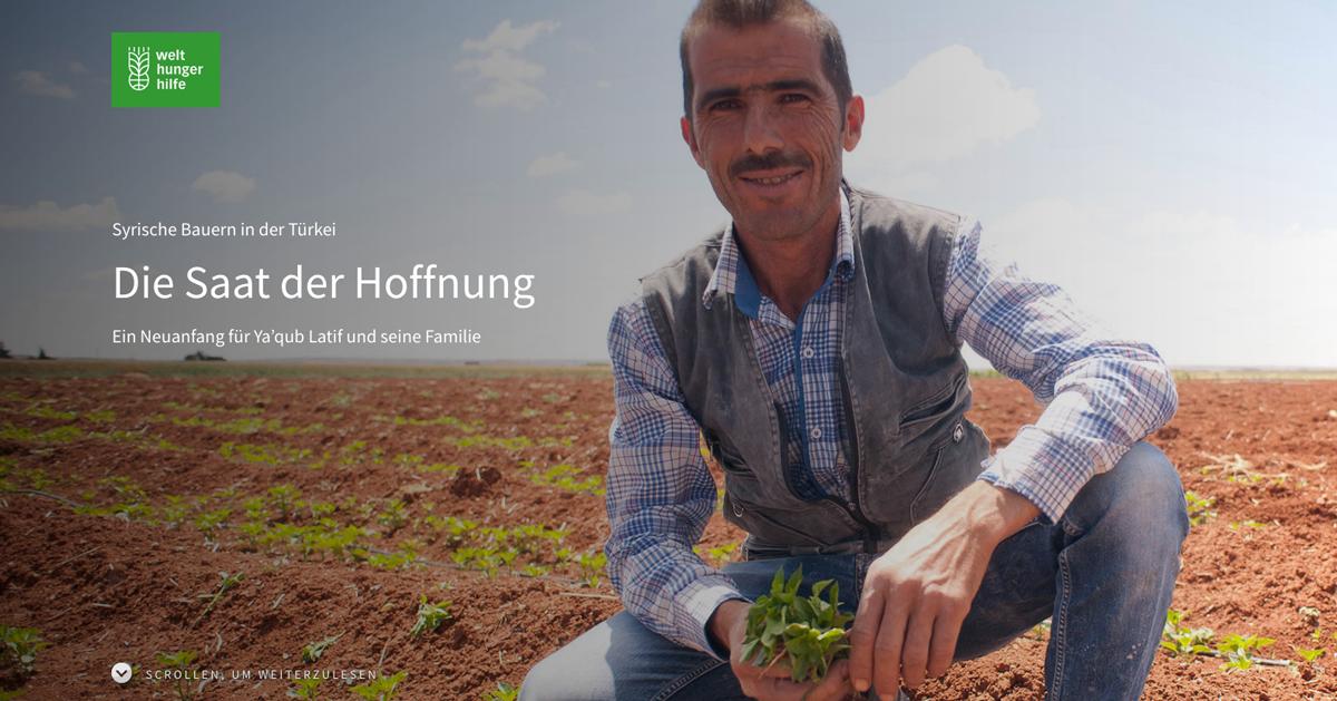 Content Creation für die Welthungerhilfe